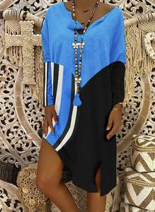 Sukienka Cikelly asymetryczna z długim rękawem