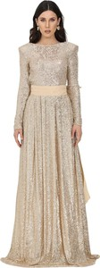 Sukienka Elisabetta Franchi z długim rękawem maxi