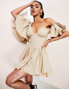 Sukienka Asos Luxe mini w stylu casual z krótkim rękawem