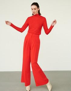 Czerwone spodnie Reserved w stylu retro