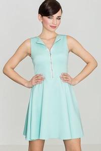 Miętowa sukienka LENITIF mini bez rękawów