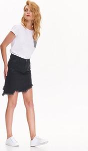 Czarna spódnica Top Secret z jeansu mini