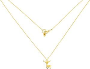 Perlove Złoty Naszyjnik z Reniferem