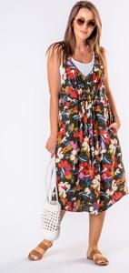 Sukienka Ptakmoda.com trapezowa midi