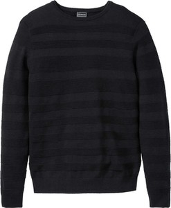 Czarny sweter bonprix RAINBOW