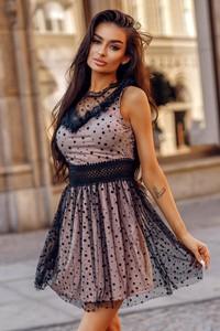 Sukienka Molerin rozkloszowana mini