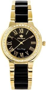Zegarek damski GINO ROSSI 10686B (zg794d) - Czarny || Złoty