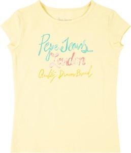 T-shirt Pepe Jeans z okrągłym dekoltem z krótkim rękawem w młodzieżowym stylu