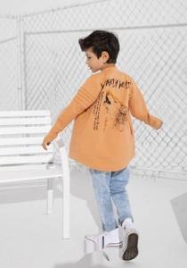 Pomarańczowa bluza dziecięca Mashmnie z bawełny