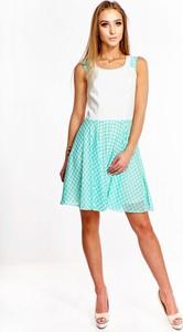 Sukienka Fokus mini bez rękawów z okrągłym dekoltem