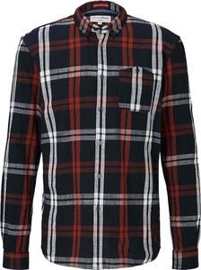 Koszula Tom Tailor Denim z bawełny z kołnierzykiem button down z długim rękawem