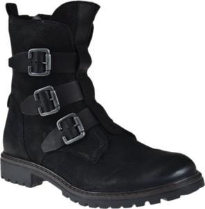 691e3704 Czarne półbuty Badura w militarnym stylu