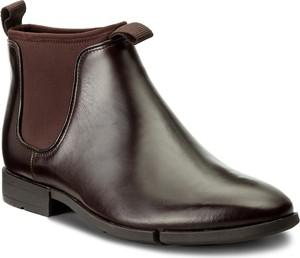 Szare buty zimowe clarks ze skóry