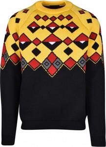 Czarna bluza Prada w młodzieżowym stylu w geometryczne wzory