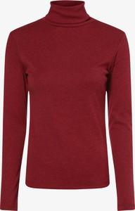 Czerwony t-shirt brookshire z długim rękawem