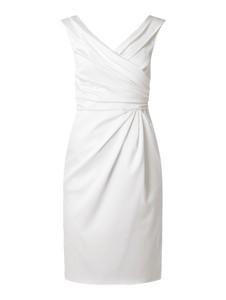 Sukienka Marie Noir bez rękawów z satyny mini