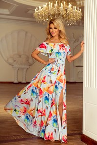 Sukienka NUMOCO z krótkim rękawem hiszpanka maxi