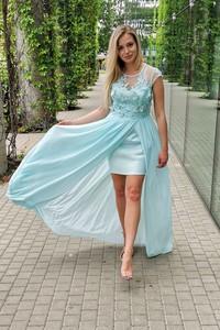 Miętowa sukienka B&b Studio mini