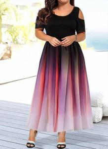 Sukienka Cikelly z okrągłym dekoltem z krótkim rękawem