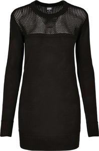 Czarna sukienka Urban Classics z długim rękawem mini