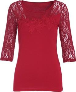 Czerwona bluzka born2be z długim rękawem