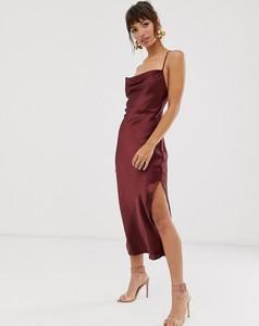 Czerwona sukienka Asos Design na ramiączkach
