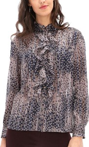 Granatowa bluzka POTIS & VERSO z długim rękawem