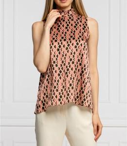 Bluzka Marella z okrągłym dekoltem z jedwabiu bez rękawów