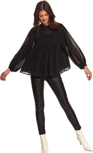Czarna bluzka Top Secret z długim rękawem