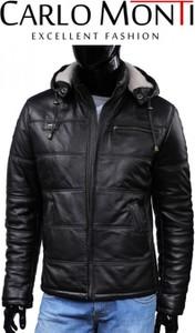 Czarna kurtka Dorjan ze skóry