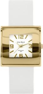 ZEGAREK DAMSKI GINO ROSSI - KWADRATTO (zg515h) + BOX - Biały || Złoty