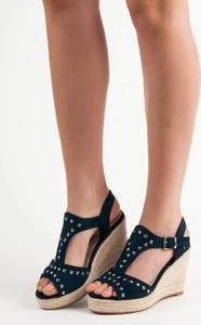 Niebieskie sandały Kylie z klamrami