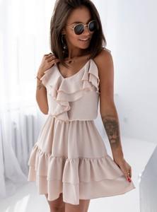 Sukienka SELFIEROOM mini trapezowa z dekoltem w kształcie litery v