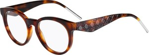 Brązowe okulary damskie Dior