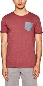 Czerwony t-shirt edc by esprit