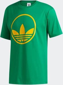Zielony t-shirt Adidas Originals z bawełny