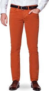 Pomarańczowe spodnie LANCERTO z bawełny