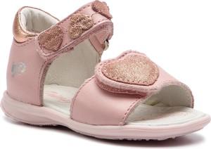 Różowe buty dziecięce letnie Primigi ze skóry