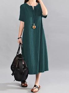 Zielona sukienka Arilook z dekoltem w kształcie litery v z długim rękawem w stylu boho