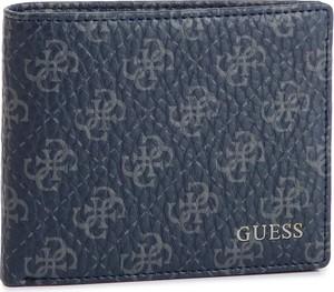 Niebieski portfel męski Guess