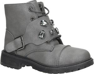 Buty dziecięce zimowe Casu sznurowane
