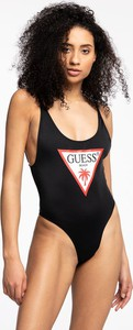 Czarny strój kąpielowy Guess z nadrukiem