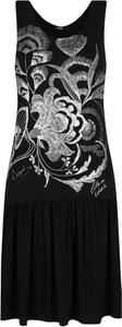 Czarna sukienka Desigual z okrągłym dekoltem bez rękawów w stylu casual