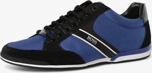 Hugo Boss BOSS - Tenisówki męskie – Saturn_Lowp_mx, niebieski