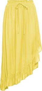 Żółta spódnica bonprix BODYFLIRT