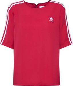 Czerwona bluzka Adidas Originals z krótkim rękawem