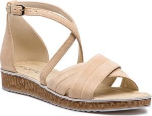 Sandały Ann-Mex z klamrami w stylu casual na koturnie