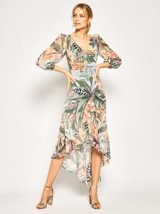 Sukienka Guess by Marciano z dekoltem w kształcie litery v midi