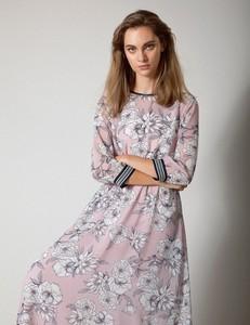 Sukienka Molton z wełny maxi z długim rękawem