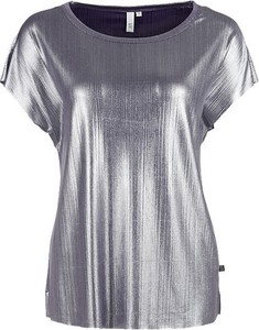 Srebrny t-shirt Q/s Designed By - S.oliver z krótkim rękawem